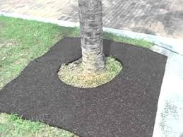 6ft x 6ft square tree ring recycled rubber mulch mat