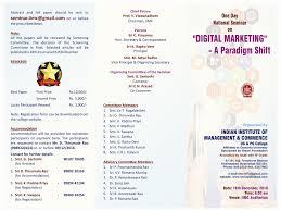 Invitation Card Format For Seminar Iimc Hyd