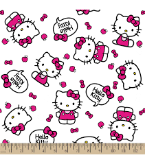 sanrio kitty print fabric quote joann