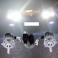 Led Light Bulbs For Headlights by 2pcs H4 Cob Chip Car Headlights 60w Pair 6000lm Car Led Light