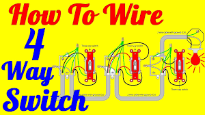 4 way switch wiring diagram multiple lights 4 way light switch wiring diagram how to install youtube