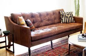 The Brick Leather Sofa Brick House