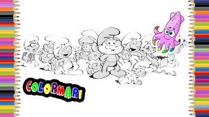smurfs coloring book pages for kids episode 1 youtube