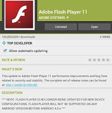 player update for android how to install flash player updates on android devices computerworld