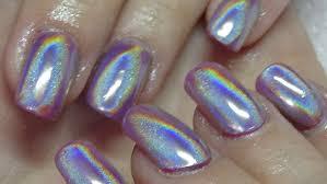 holographic acrylic nails using naio nails youtube