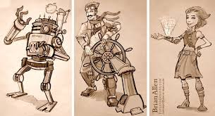 steampunk character concepts flyland designs freelance