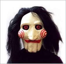 Latex Halloween Costumes Halloween Billy Head Mask Scary Jigsaw Puppet Toy Cosplay Latex