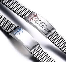 personalized engraved bracelets c 9 99 pas cher 2016 custom engraved bracelet men s alert