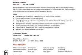 Cook Resume Examples by Line Chef Resume Reentrycorps