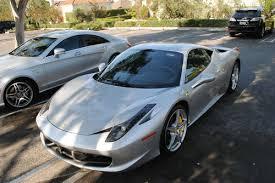 silver 458 italia sell used 2010 458 italia coupe silver black 5k
