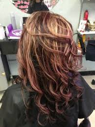 mahogany red hair with high lights mahogany red blonde highlights chocolate red hair color with
