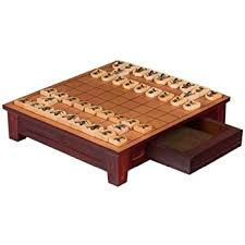 wooden set set of wooden shogi japanese chess pieces koma