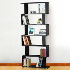 black bookshelf with cabinet tinkertonk wooden 6 tier s shape bookshelf bookcase stand storage