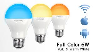 applamp set of 4 rgbw 6 watt e27 led light bulbs remote control