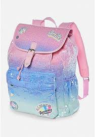 bags with bows on them tween mini backpacks emoji initial more justice