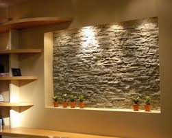 wall interior design prestigious center wall of free space decorated with glorious stone