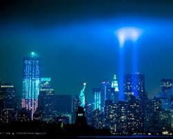 9 11 Memorial Lights 11 Memorial Photo Beams Of Light