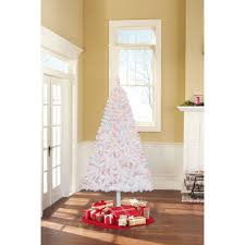 holiday time pre lit 6 5 u0027 madison pine white artificial christmas