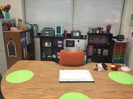 Classroom Desk Organization Ideas An Organized No Desk Space Fourth Pinterest