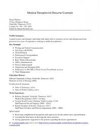 eye catching resume for medical receptionist resume template example