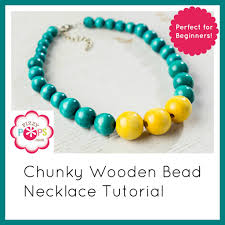 chunky bead necklace images Video tutorial diy chunky wooden bead necklace fizzy pops jpg