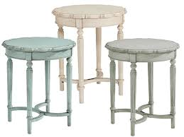 pie crust end table french inspired tall pie crust side table by magnolia home