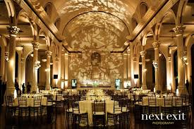 wedding venues in los angeles leaf lighting gobo on back wall the uplit columns weddings