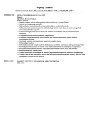 Scientific Resume Examples by Operations Research Analyst Resume Sample Velvet Jobs