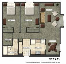 awesome small one bedroom apartment floor plans room