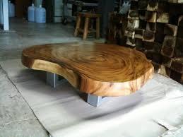 custom made walnut stainless steel butchers block coffee table