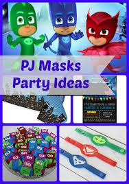 pj masks birthday party ideas themed supplies birthday buzzin