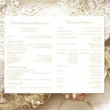 Catholic Mass Wedding Programs Catholic Church Wedding Program Vienna Champagne Wedding