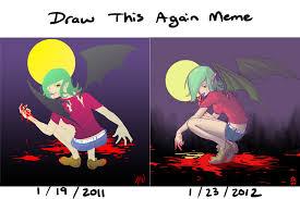 draw this again meme vampire by rasuru on deviantart
