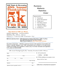date for thanksgiving day 2013 ssf 40th annual thanksgiving fun run nov 16th everything south