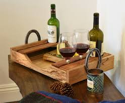 wine bottle tray reclaimed wood wine serving tray wine cheese party