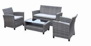 canapé de jardin en résine salon de jardin resine tresse élégant galerie salon jardin 4
