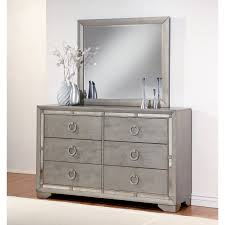 Hayworth Mirrored Chest Silver by Channel Vintage Elegance At Home With This Dresser And Mirror