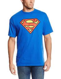 amazon com dc comics superman classic logo men u0027s royal blue t