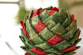 how to make a quilted fabric pinecone ornament the ornament