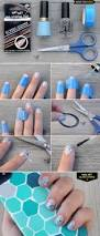 diy nail art silver stripe