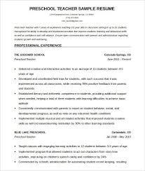 Free Teaching Resume Templates Resume Templates For Teachers Template Idea
