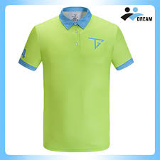 light green polo shirt dream sport polyester fabric light blue and green two color