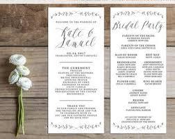 Printable Wedding Programs The 25 Best Printable Wedding Programs Ideas On Pinterest