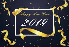 Laeacco Happy New Year 2019 Poster Ribbon Glitters Photography