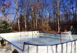 How To Make A Ice Rink In Your Backyard Synthetic Ice Basement And Backyard Rink Kits Hockey Shooting