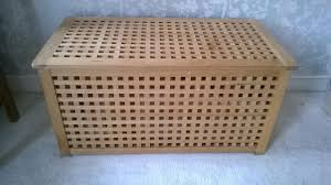 ikea wooden ottoman storage unit toy box in west bridgford