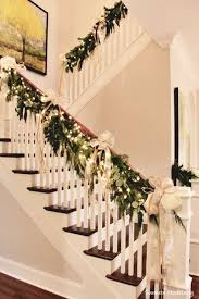 Christmas Decorations For Outdoor Railings by Best 25 Christmas Staircase Ideas On Pinterest Christmas