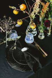 Halloween Entertaining Jojotastic Dramatic Black Halloween Tablescape Small Space