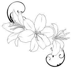 lily tattoo outline drawings tattoos u0026 piercings pinterest