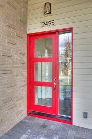 3 Panel Exterior Door Contemporary Front Door With Glass Panel Door Exterior